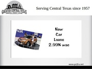 Secured Auto Loan Central Texas